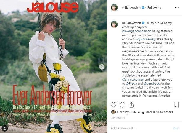 エヴァーは「JaLouse Magazine」の表紙を飾るなど、モデルとしても注目されている