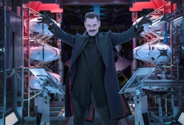 ソニックのスーパーパワーをねらう、ドクター・ロボトニック役のジム・キャリー