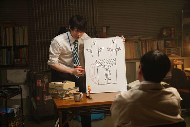 映画では「マジンガーZ」の格納庫作りのシミュレーションを題材にしている