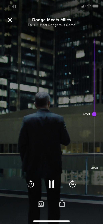 Turnstyleという特許技術で、スマホ画面の縦でも横でも映像を観られることも売りのひとつ