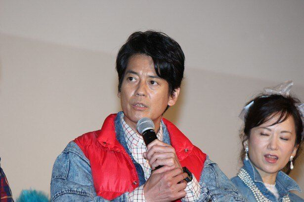 「THE LAST COP/ラストコップ」の完成披露イベントに登場した唐沢寿明
