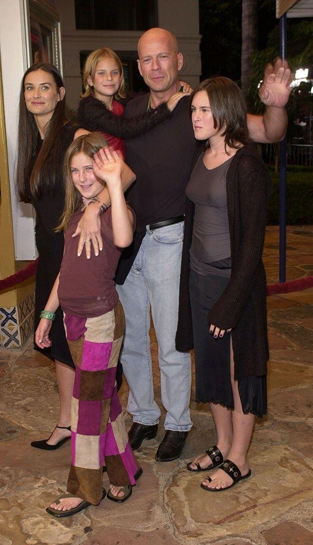 デミとブルースの間には3人の娘がいる